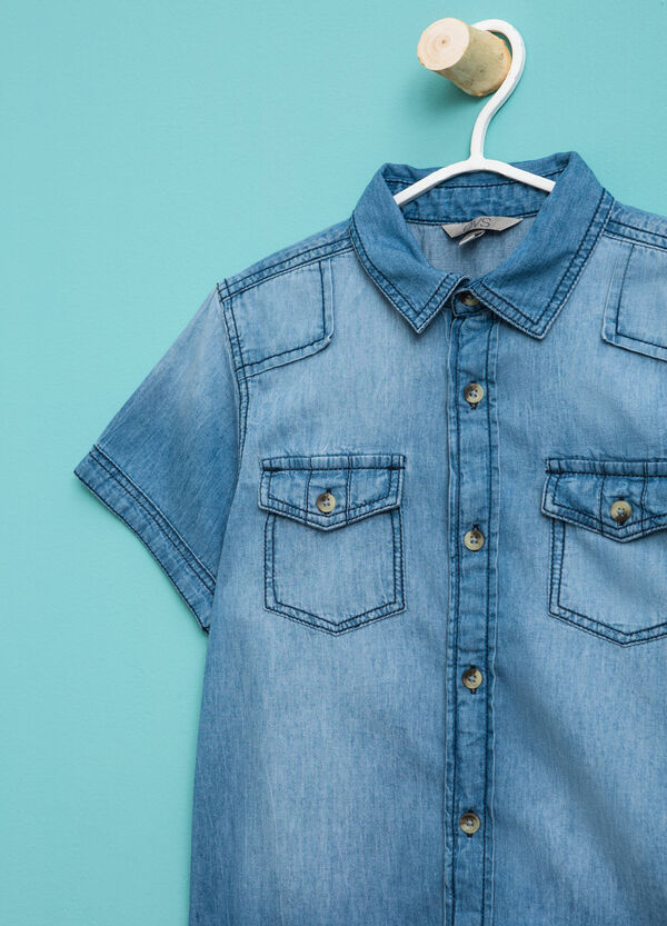 Denim shirt with short sleeves | OVS