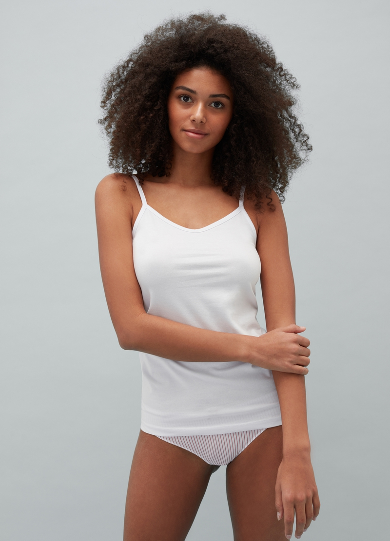 Two-pack stretch cotton vest image number null