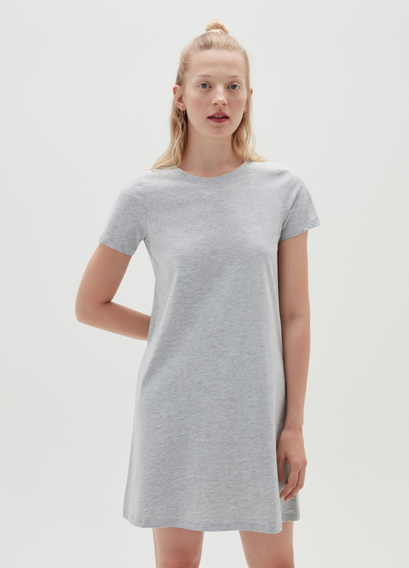 Abito a t-shirt in cotone bio mélange image number null