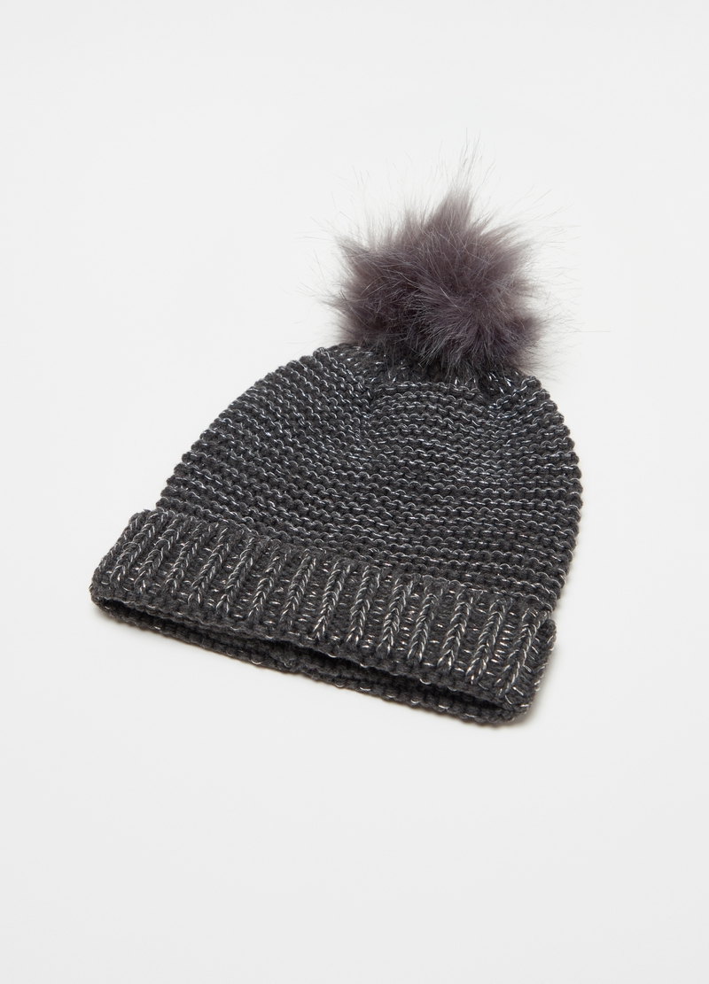 Hat with pompom image number null