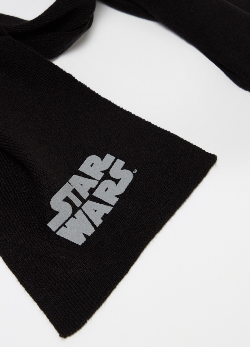 Knitted scarf with Star Wars print image number null