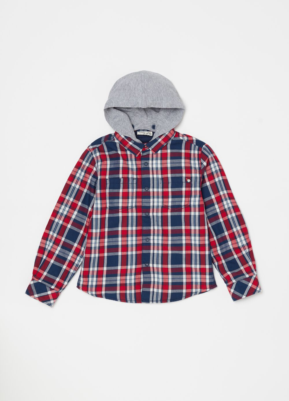 100% cotton shirt with hood