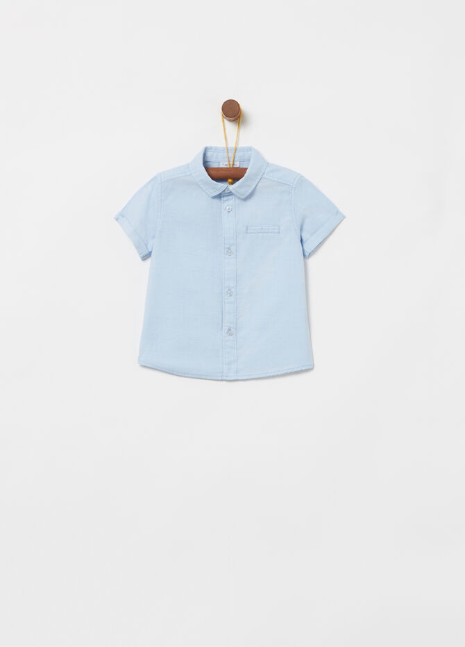 100% cotton shirt with short sleeves
