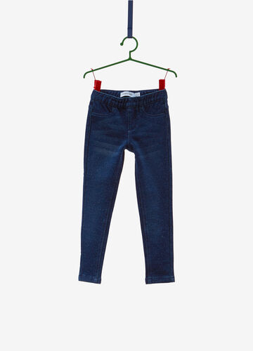 Jeggings jeans fit stretch used con lurex