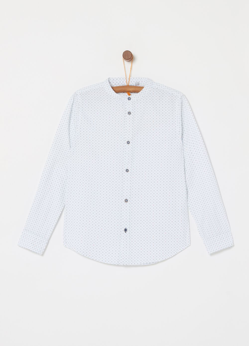 100% cotton shirt with geometric pattern