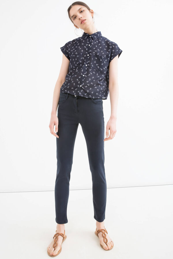 Modal and cotton blend trousers