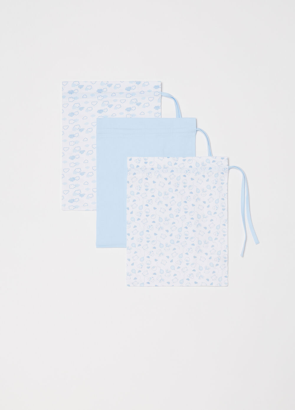 Three-pack BCI solid colour and patterned bags