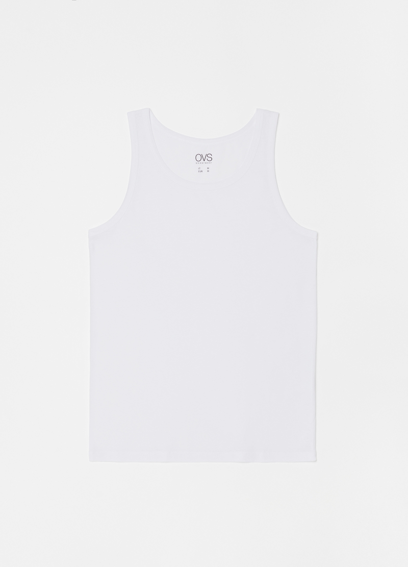 Three-pack racerback vest in 100% cotton image number null