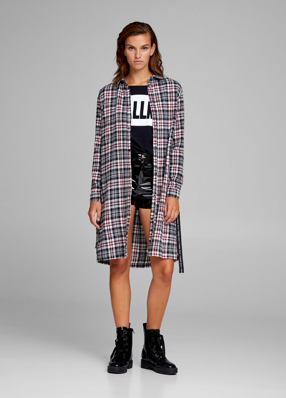 K+K for OVS cotton shirt dress