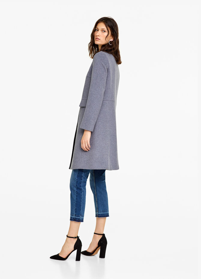 Long coat with high neck