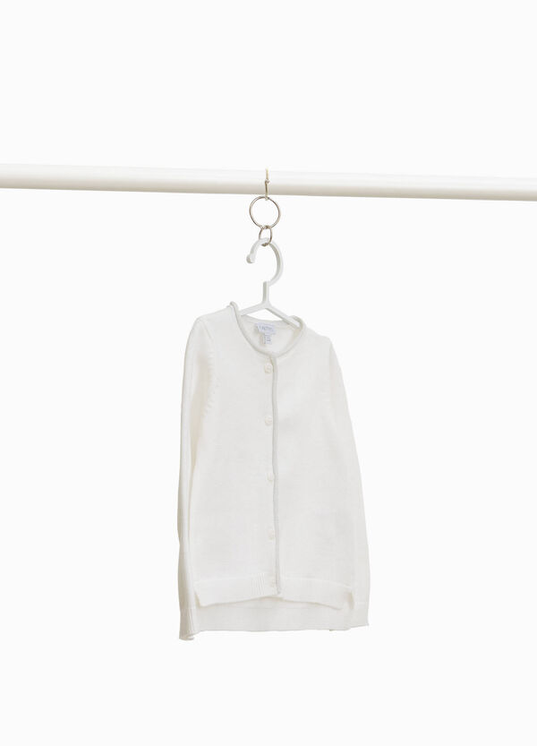 100% cotton cardigan with splits