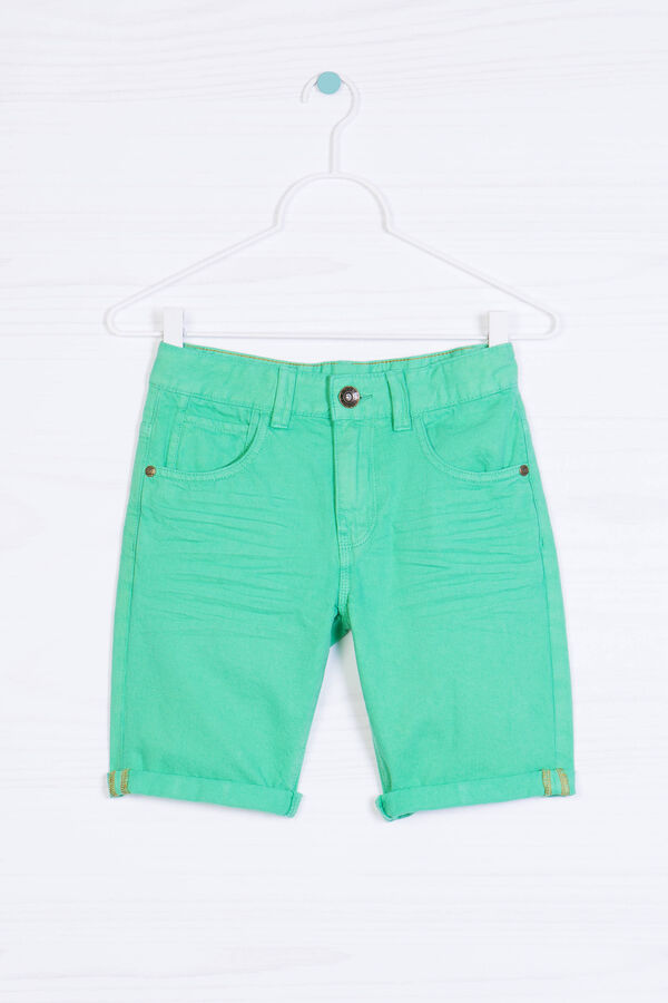 Shorts di jeans effetto used