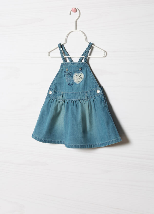 Pinafore dress with lace   OVS