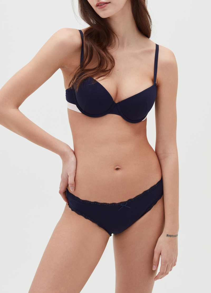 The Padded lifting-effect bra image number null
