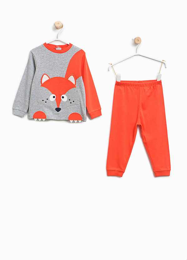Organic cotton pyjamas with fox patch | OVS