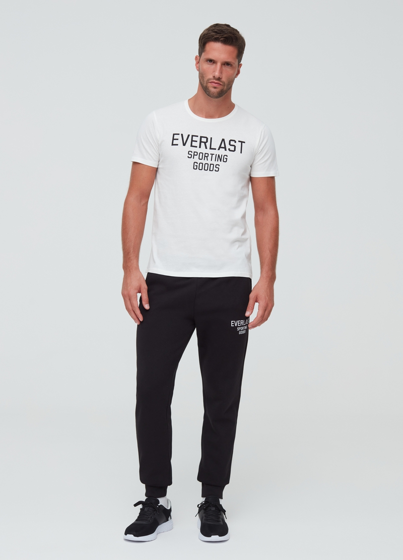 100% cotton T-shirt with Everlast print image number null