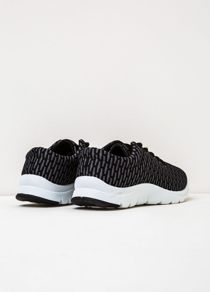 Sneakers with rubber sole