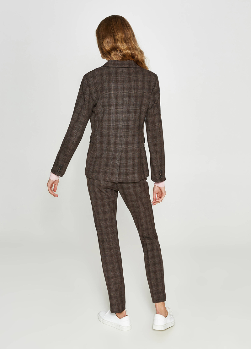 Giacca viscosa stretch tartan image number null