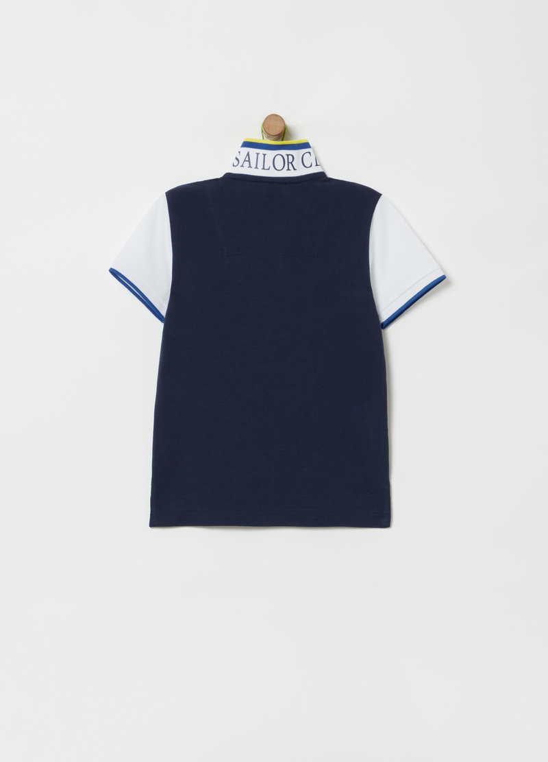 Polo shirt in 100% organic cotton with print image number null