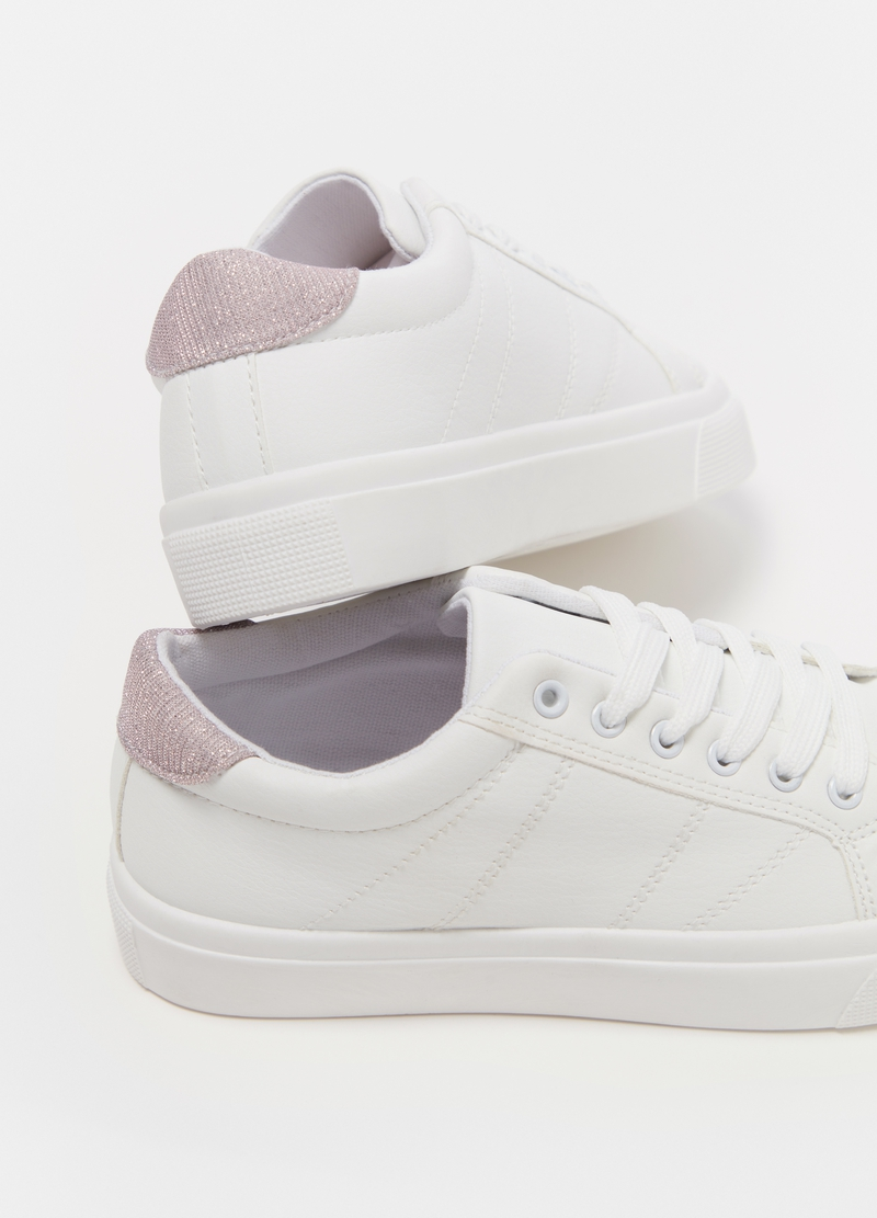 Sneakers con tallone in lurex image number null