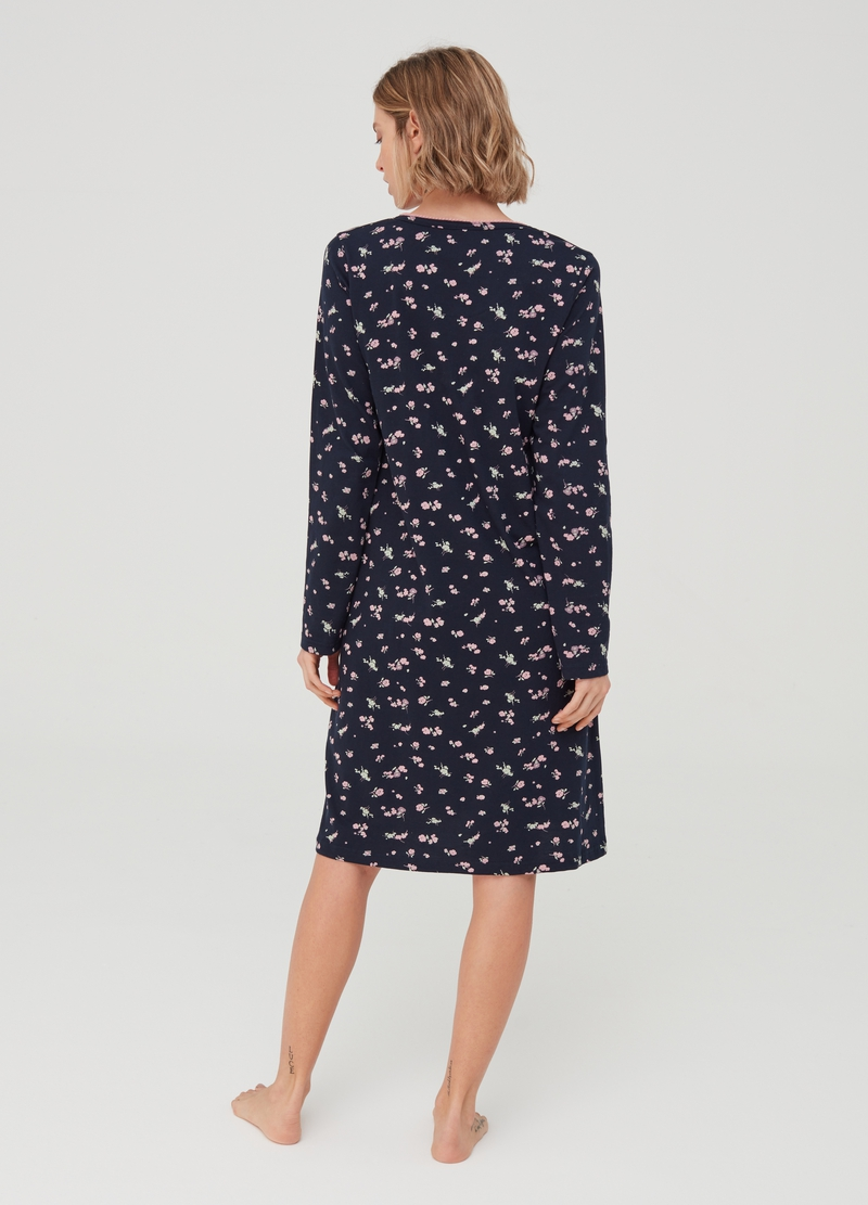 Floral patterned nightshirt image number null