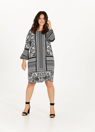 Curvy patterned 100% viscose dress