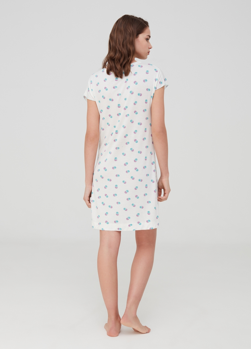 Nightshirt with polka dot lace image number null