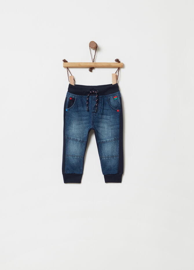 Regular-fit jeans with contrasting faux layer
