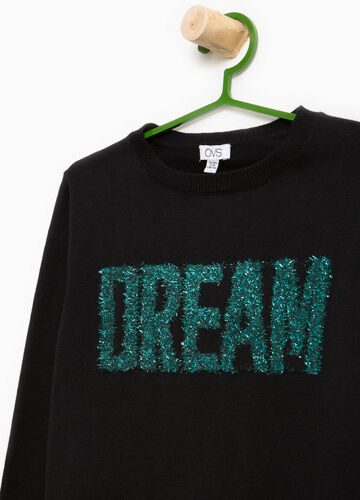 Pullover in cotone stampa lettering