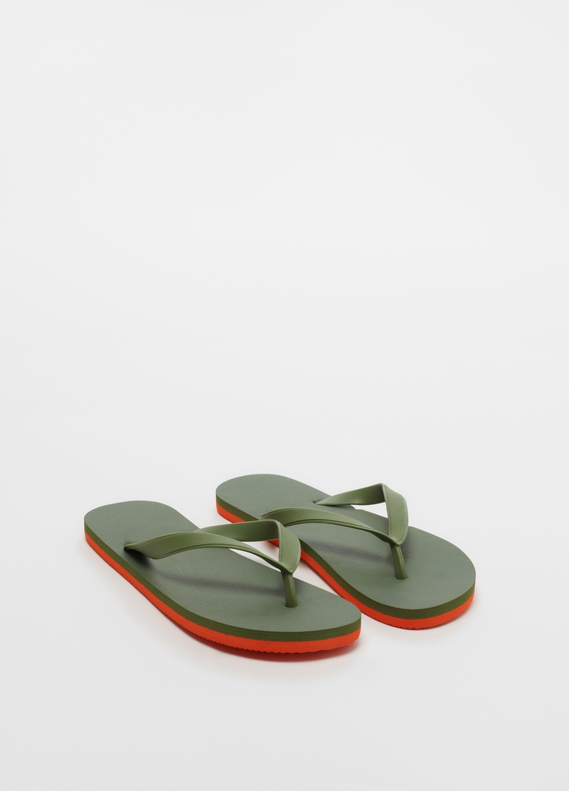 Two-tone beach flip-flops image number null