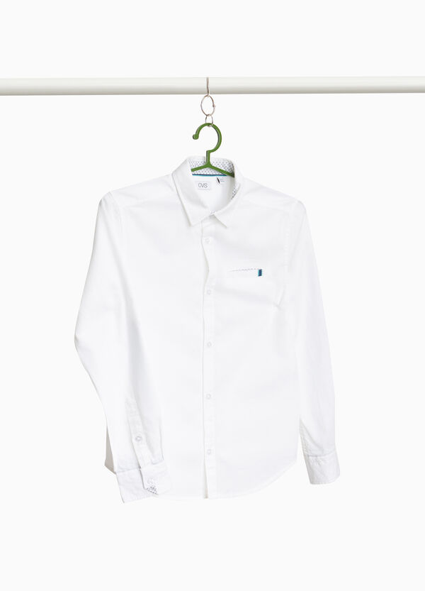 100% cotton shirt with patches