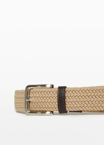 Belt with woven design