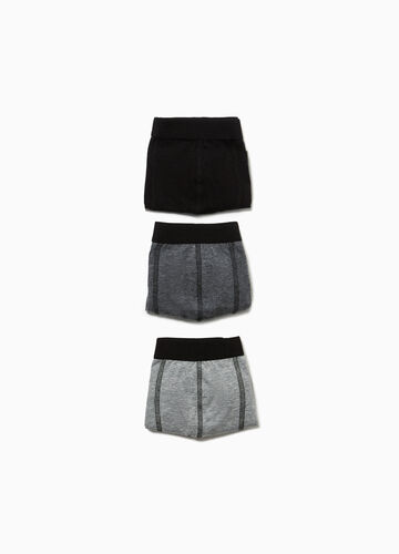 Three-pack stretch boxer shorts with stitching