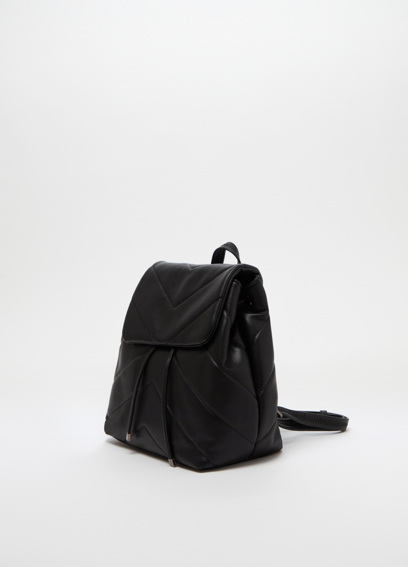 Quilted backpack with drawstring image number null