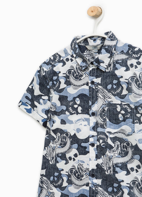Short-sleeved shirt with all-over print | OVS