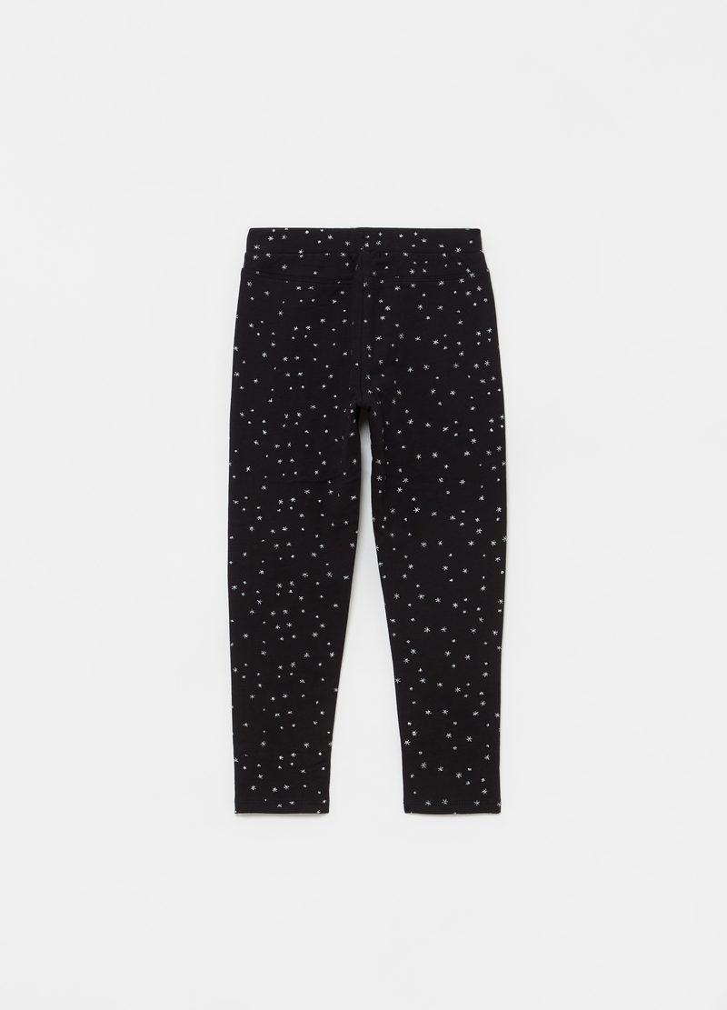 Treggings stampa glitter stelle all-over image number null
