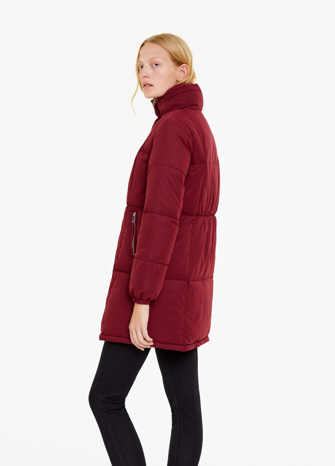 Jacket with high neck and stitching