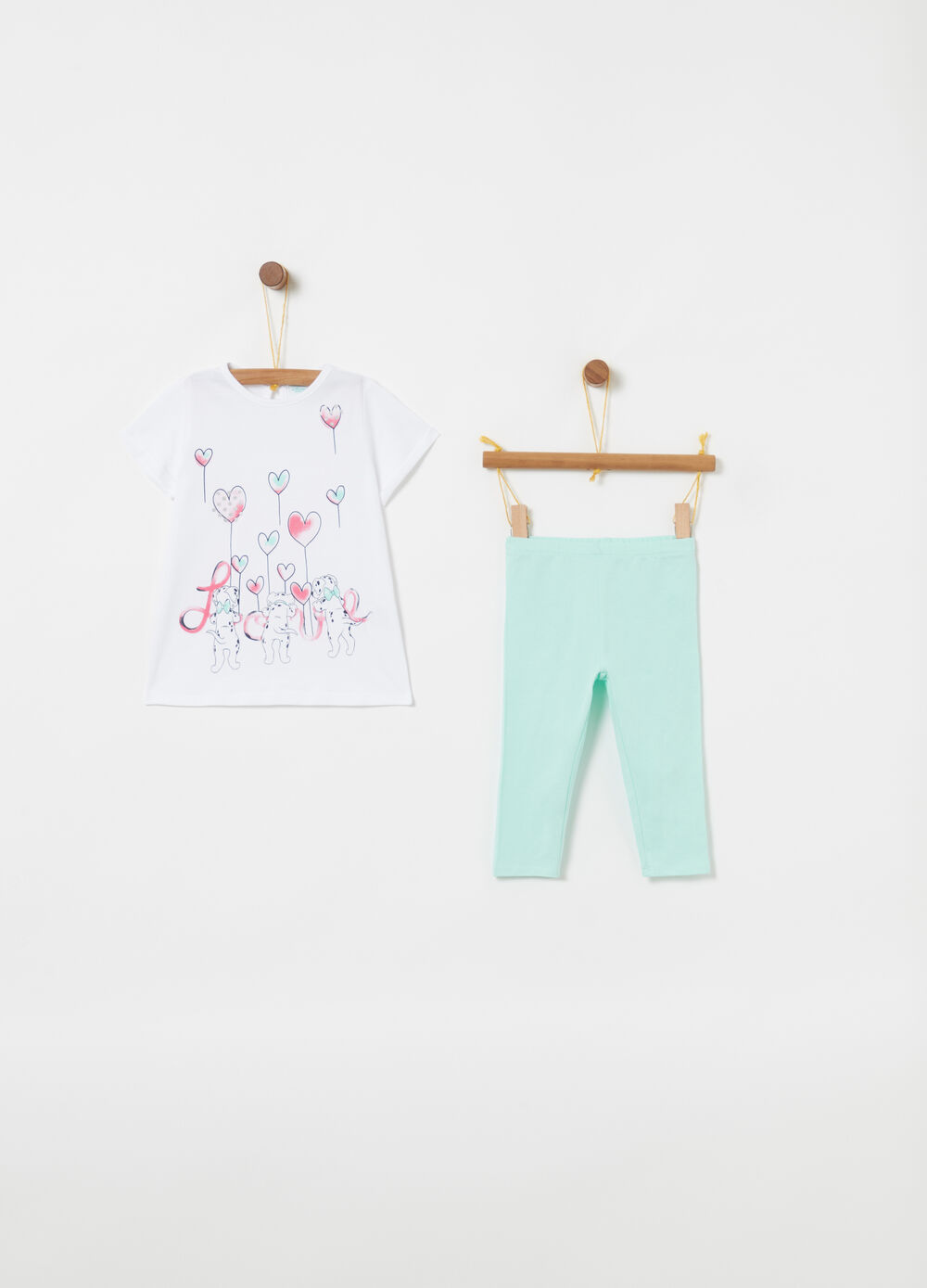Jogging set biocotton Disney Baby glitter