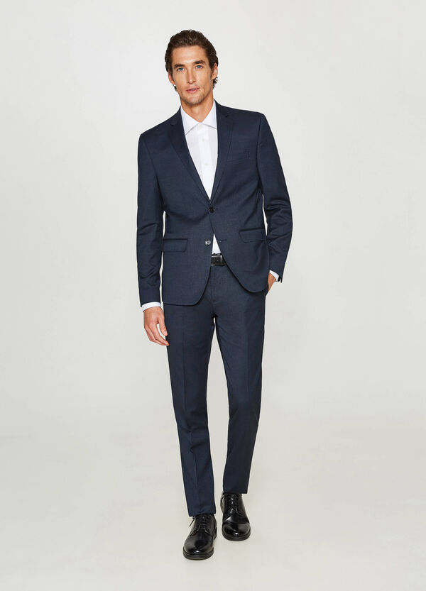 Slim-fit suit in stretch viscose blend | OVS