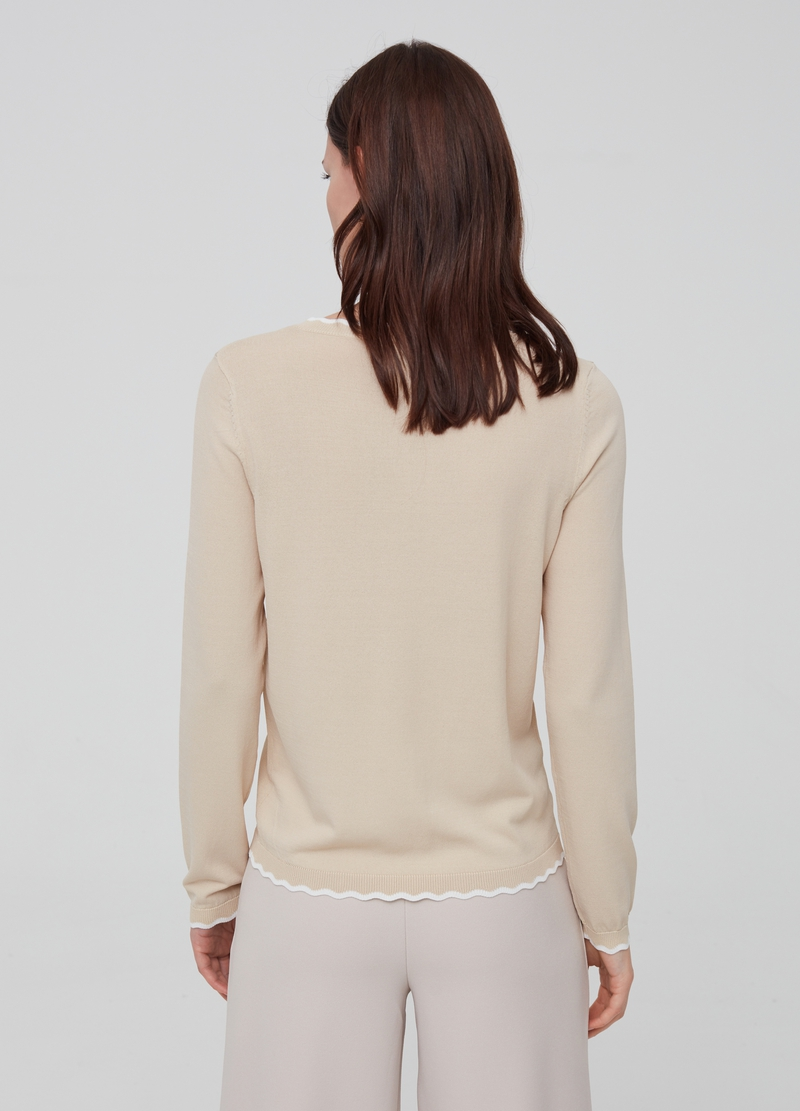 Pullover tricot in misto viscosa image number null