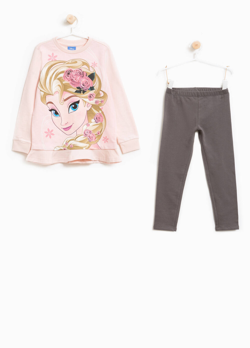 Cotton tracksuit with Frozen print and diamantés