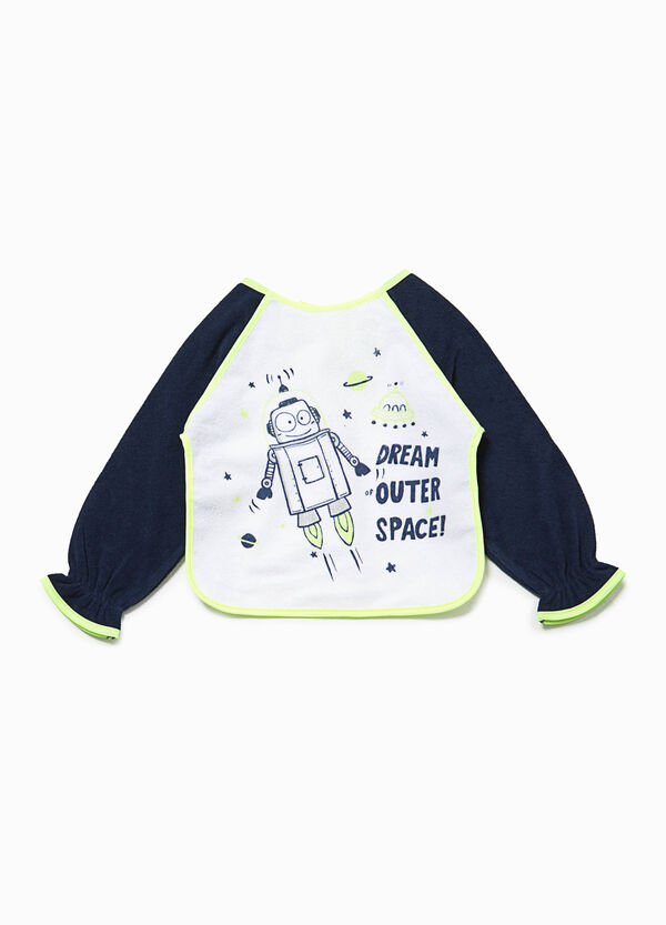 Bib with sleeves and robot print | OVS