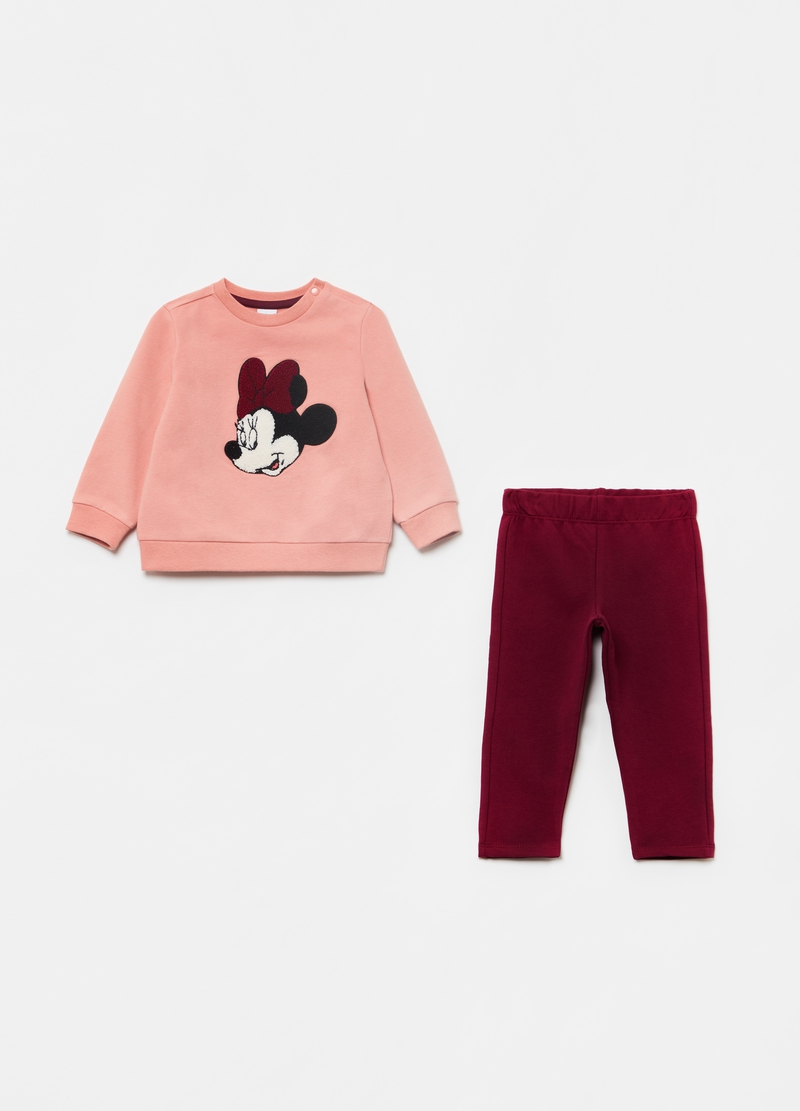 Stretch organic cotton Minnie Mouse jogging set image number null