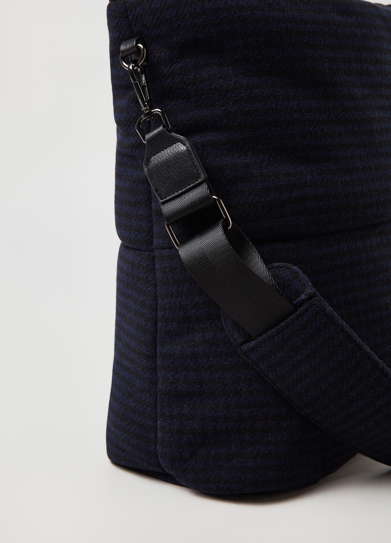 PIOMBO hounds' tooth shoulder bag image number null