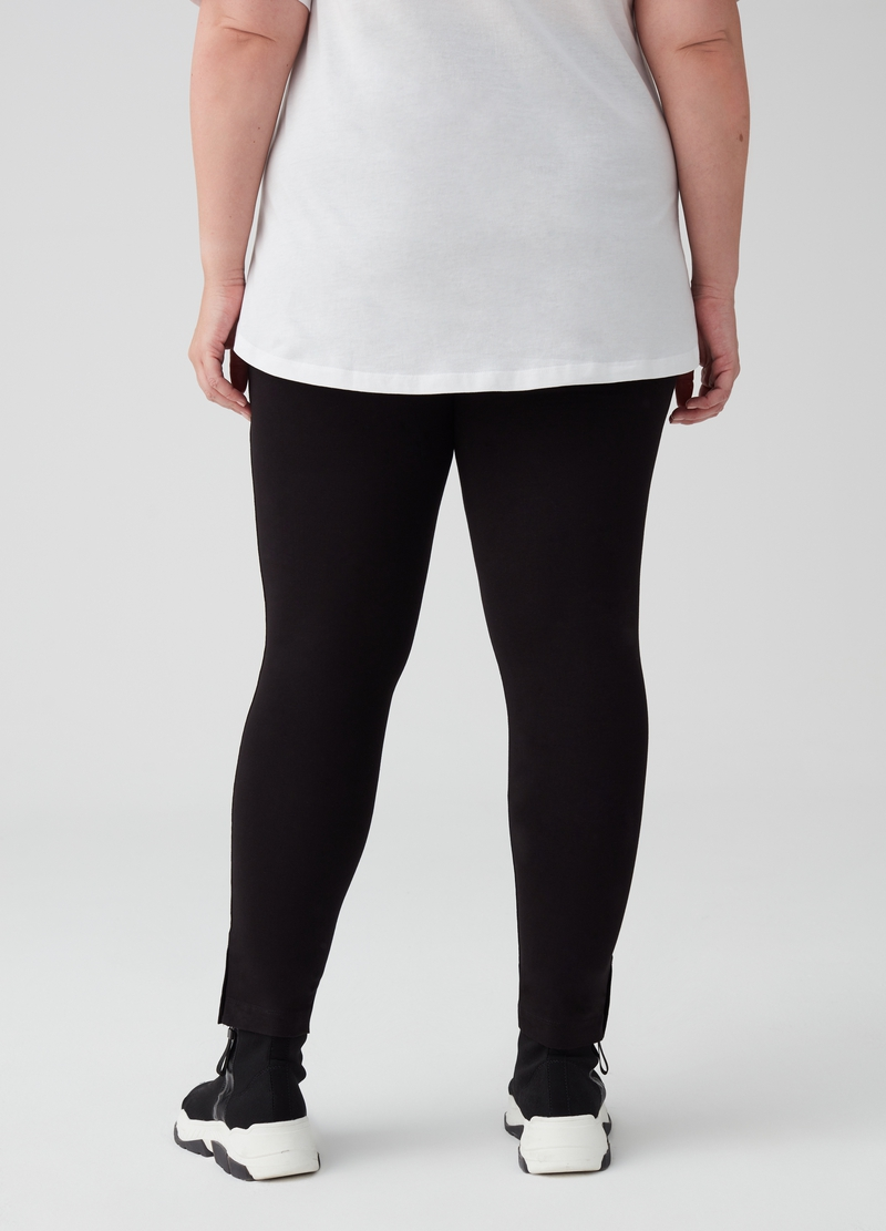 Leggings in cotone stretch Curvy image number null