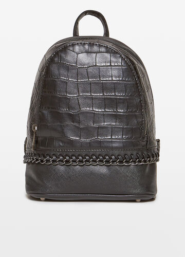 Backpack with applied chain