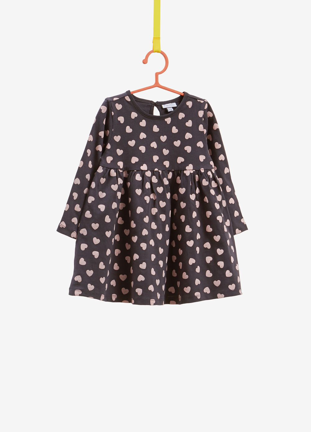100% cotton dress with hearts print
