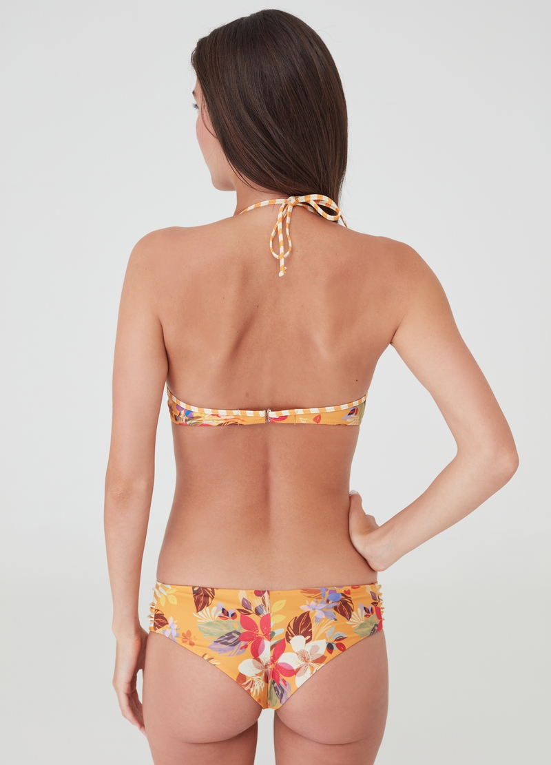 Bikini top with all-over floral print image number null