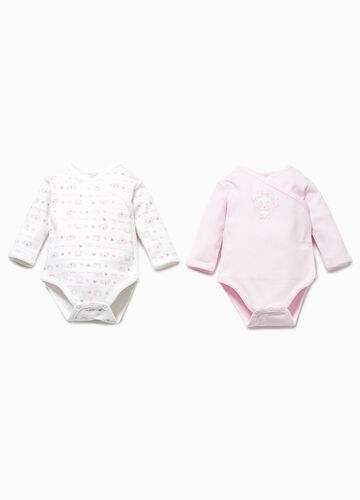 Two-pack cotton animal bodysuits