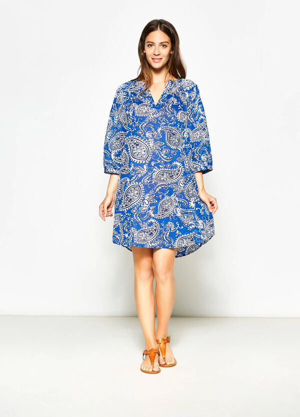 Kaftan with all-over paisley print | OVS